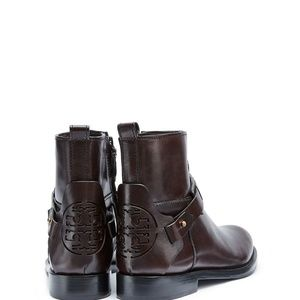 Tory Burch DERBY Leather Ankle Boot Bootie Coconut
